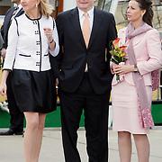 NLD/Makkum/20080430 - Koninginnedag 2008 Makkum, Mabel Wisse Smit en partner Johan Friso, Anita van Eijk
