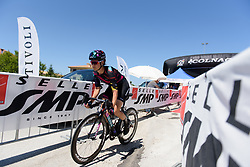 Elena Cecchini begins Stage 5 of the Giro Rosa - a 12.7 km individual time trial, starting and finishing in Sant'Elpido A Mare on July 4, 2017, in Fermo, Italy. (Photo by Sean Robinson/Velofocus.com)