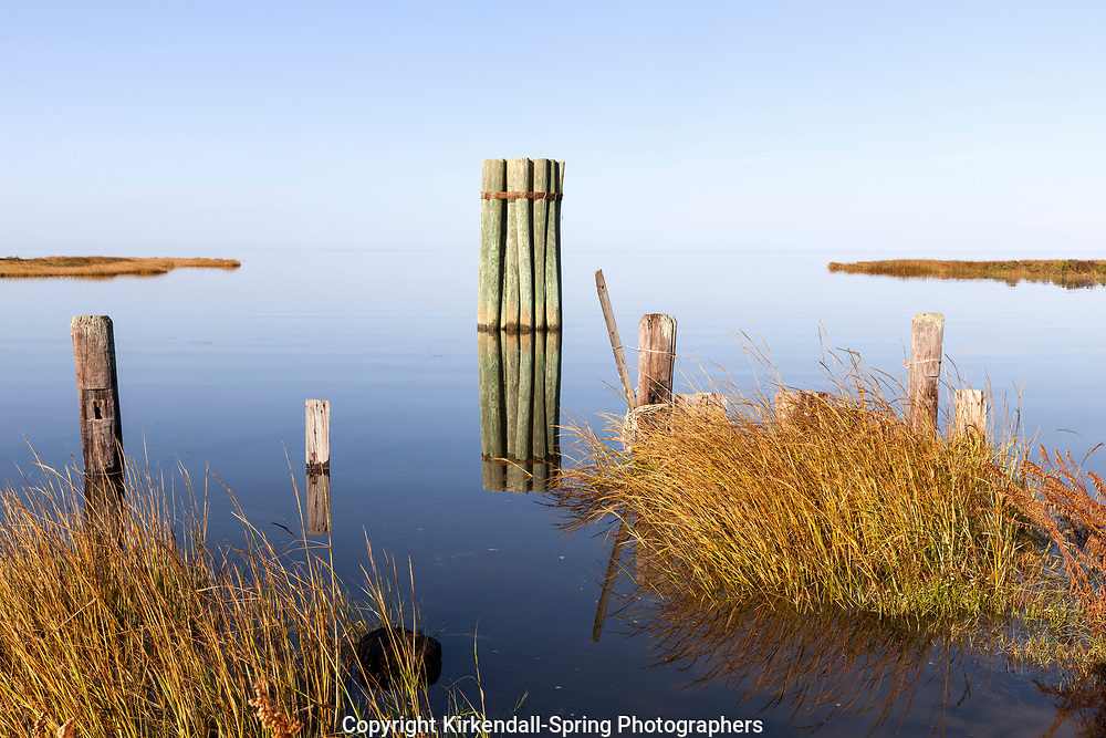 NC00740-00...NORTH CAROLINA - The Pamlico Sound at Rodanthe on the Outer Banks.