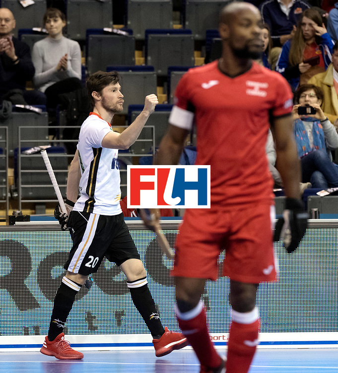 BERLIN - Indoor Hockey World Cup<br /> Men: Germany -  Trinidad &amp; Tobago<br /> foto: Martin Zwicker.<br /> WORLDSPORTPICS COPYRIGHT FRANK UIJLENBROEK
