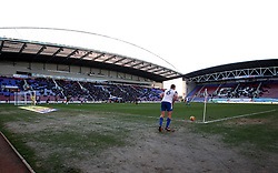 Max Power of Wigan Athletic prepares to take a corner at the DW Stadium - Mandatory by-line: Robbie Stephenson/JMP - 24/02/2018 - FOOTBALL - DW Stadium - Wigan, England - Wigan Athletic v Rochdale - Sky Bet League One