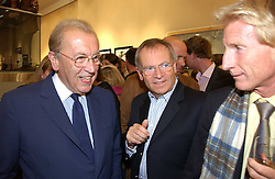 Left to right, SIR DAVID FROST and LORD ARCHER at an exhibition of photographs by Lord Snowdon held at the Chris Beetles Gallery, Ryder Street, London on 18th September 2006.<br />