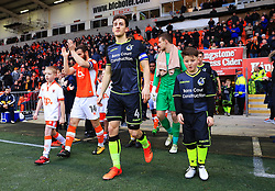 Bristol Rovers and Blackpool players walk out before kick off - Mandatory by-line: Matt McNulty/JMP - 13/01/2018 - FOOTBALL - Bloomfield Road - Blackpool, England - Blackpool v Bristol Rovers - Sky Bet League One