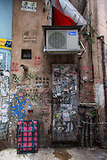 Graffitied door, Hong Kong