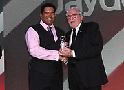 Sir Peter Leitch Member of the Year 2018 Award, Jayden Penerata (L)<br /> Vodafone Warriors Annual Awards night. Sky City, Auckland, New Zealand. Sunday 2 September 2018. © Copyright photo: Andrew Cornaga / www.Photosport.nz