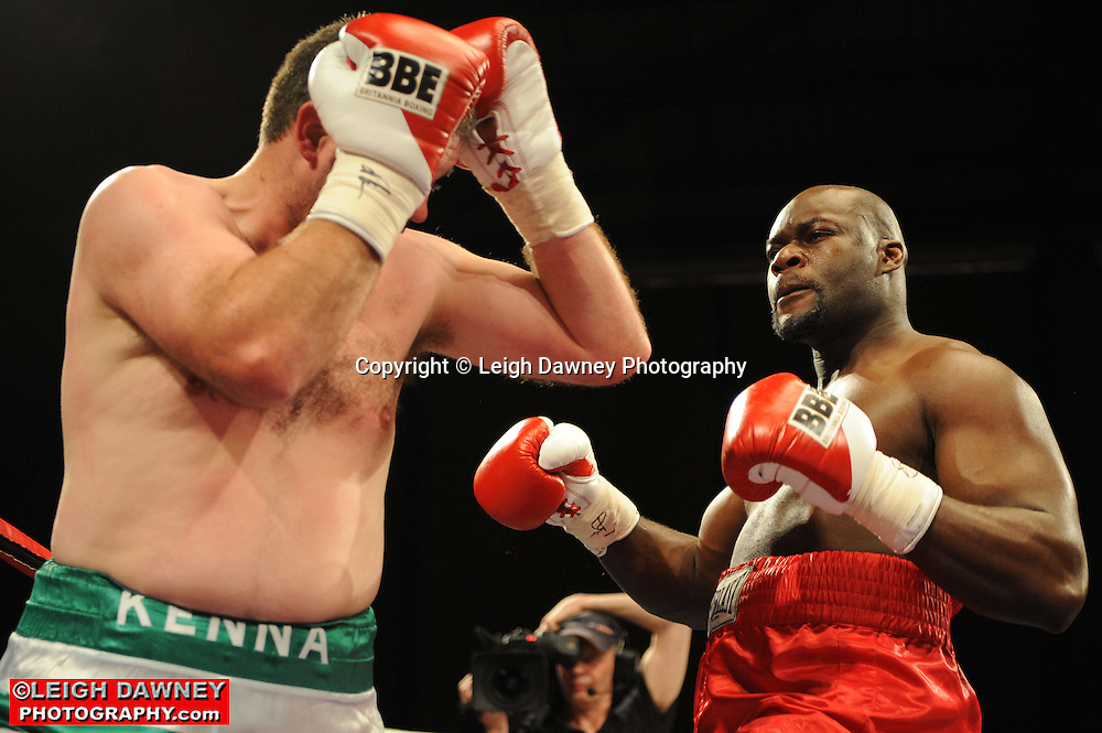 Larry Olubamiwo defeats Colin Kenna at Gorsebrook Leisure Centre Dagenham on 14th May 2010. Frank Maloney Promotions. Photo credit: © Leigh Dawney