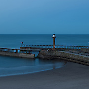 Whitby Harbour at dusk