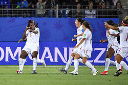 6?10??????????????????????.Kadeisha Buchanan (1st L) of Canada celebrates after scoring during..???????????????2019?6?11?.?????????——E??????????????.?????????????2019??????????E???????????1?0??????.?????????..(SP)FRANCE-RENNES-2019 FIFA WOMEN'S WORLD CUP-GROUP E-CANADA VS CAMEROON..(190611) -- MONTPELLIER, June 11, 2019  the group E match between Canada and Cameroon at the 2019 FIFA Women's World Cup in Montpellier, France on June 10, 2019. Canada won 1-0. (Credit Image: © Xinhua via ZUMA Wire)
