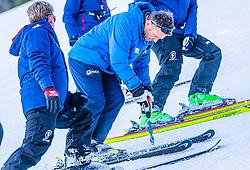 10.01.2020, Streif, Kitzbühel, AUT, FIS Weltcup Ski Alpin, Schneekontrolle durch die FIS, im Bild v.l. Herbert Hauser (Pistenchef Streif), Hannes Trinkl (FIS Renndirektor) // f.l. Herbert Hauser slope Manager Streif and Hannes Trinkl FIS Racedirector during snow control by the FIS for the FIS ski alpine world cup at the Streif in Kitzbühel, Austria on 2020/01/10. EXPA Pictures © 2020, PhotoCredit: EXPA/ Stefan Adelsberger
