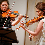 June 1, 2011 - New York, NY : Angela, left, and Jennifer Chun perform during 'Ballad and Dance' at the Tenri Cultural Institute on Wednesday evening, June 1...Karsten Moran for The New York Times
