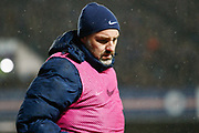 Kris Boyd of Kilmarnock warms up from the bench as he returns to Ibrox during the Ladbrokes Scottish Premiership match between Rangers and Kilmarnock at Ibrox, Glasgow, Scotland on 31 October 2018.