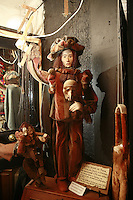 Lyon, France..in the puppet museum  of.the shop Disagn'Cardelli, a puppet and marionnette museum and boutique, including many  Gignols