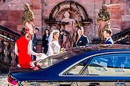16-9-2017 Amorbach GERMANY wedding of Ferdinand Prinz zu Leiningen, Sohn des Andreas Fürst zu Leiningen und Alexandra Fürstin zu Leiningen, Prinzessin von Hannover, Herzogin zu Braunschweig und Lüneburg, and Viktoria Luise Prinzessin von Preußen, Spoiler of Disturbances Dr. Friedrich Wilhelm Prinz von Preußen und Ehrengard Prinzessin von Preußen, born of Reason, was armed on 16 September 2017 in Amorbach. COPYRIGHT ROBIN UTRECHT<br /> <br /> 16-9-2017 Amorbach DUITSLAND huwelijk van Ferdinand Prinz zu Leiningen, Sohn des Andreas Fürst zu Leiningen und Alexandra Fürstin zu Leiningen, Prinzessin von Hannover, Herzogin zu Braunschweig und Lüneburg, en Viktoria Luise Prinzessin von Preußen, Tochter van verstorbenen Dr. Friedrich Wilhelm Prinz von Preußen und Ehrengard Prinzessin von Preußen, geboren van Reden, werden op 16 september 2017 in Amorbach heiraten. COPYRIGHT ROBIN UTRECHT