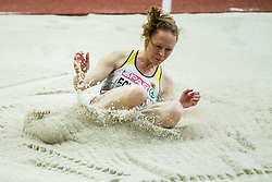 Neele Eckhardt of Germany competes in the Triple Jump Women Qualification on day one of the 2017 European Athletics Indoor Championships at the Kombank Arena on March 3, 2017 in Belgrade, Serbia. Photo by Vid Ponikvar / Sportida
