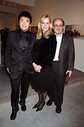 Left to right, LANG LANG, LOUISE BLOUIN MACBAIN and SALMAN RUSHDIE at the Montblanc de la Culture Arts Patronage Award 2008 presented to Louise Blouin MacBain at the Louise Blouin MacBain Institute, 3 Olaf Street, London W11 on 16th April 2008.<br /><br />NON EXCLUSIVE - WORLD RIGHTS