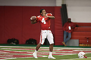 March 06, 2013: Quarterback Tommy Armstrong #4 at spring practice at Hawks Championship Center.