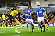 Burton Albion's Kyle McFadzean shoots during the EFL Sky Bet Championship match between Burton Albion and Ipswich Town at the Pirelli Stadium, Burton upon Trent, England on 28 October 2017. Photo by John Potts.