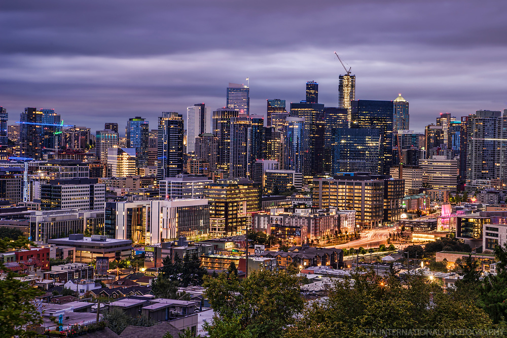 Downtown Seattle, Moody Morning