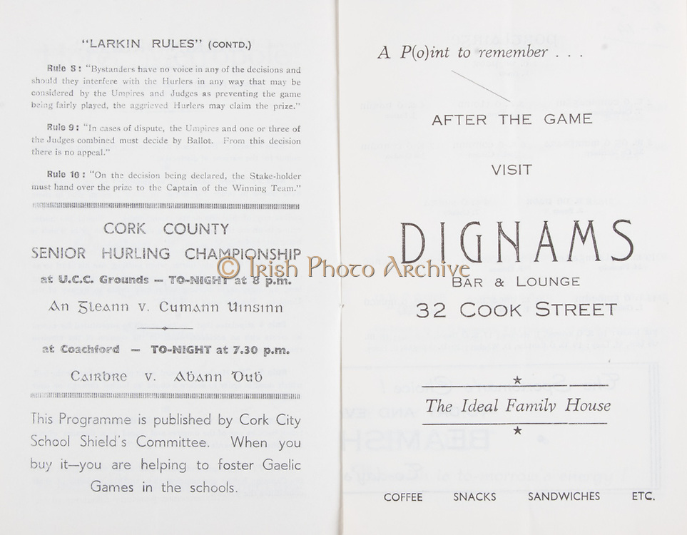 Munster Senior Hurling Championship .Waterford vs Limerick.Cork Athletic Grounds.Sunday 11th June 1961.11.06.1961