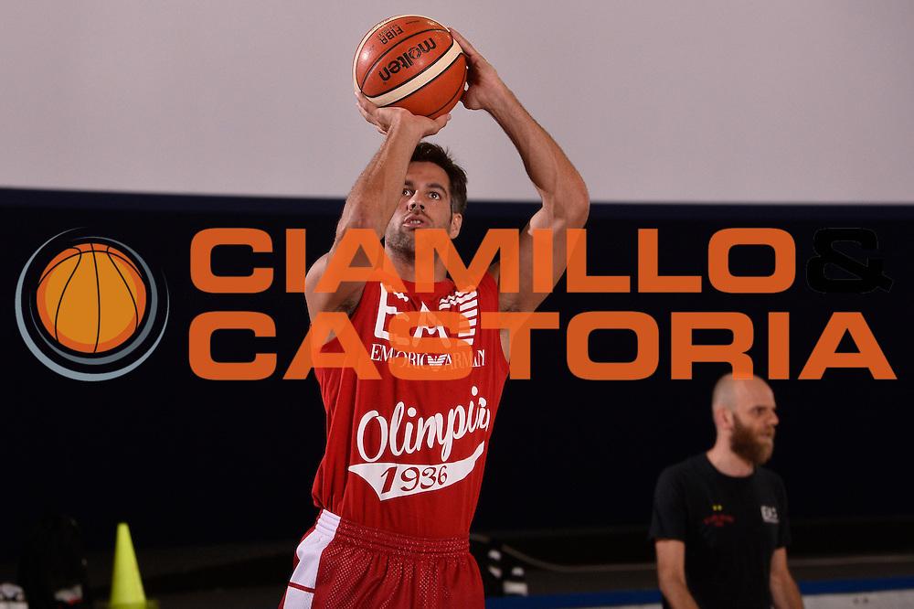 Bruno Cerella <br /> EA7 Emporio Armani Olimpia Milano allenamento <br /> Lega Basket Serie A 2016/2017<br /> Bormio 26/08/2016<br /> Foto Ciamillo-Castoria
