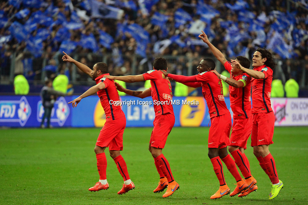 Victoire du PSG  - 11.04.2015 -  Bastia / PSG - Finale de la Coupe de la Ligue 2015<br />