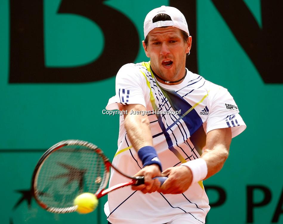 French Open 2010, Roland Garros, Paris, Frankreich,Sport, Tennis, ITF Grand Slam Tournament,  Juergen Melzer (AUT) ..Foto: Juergen Hasenkopf..