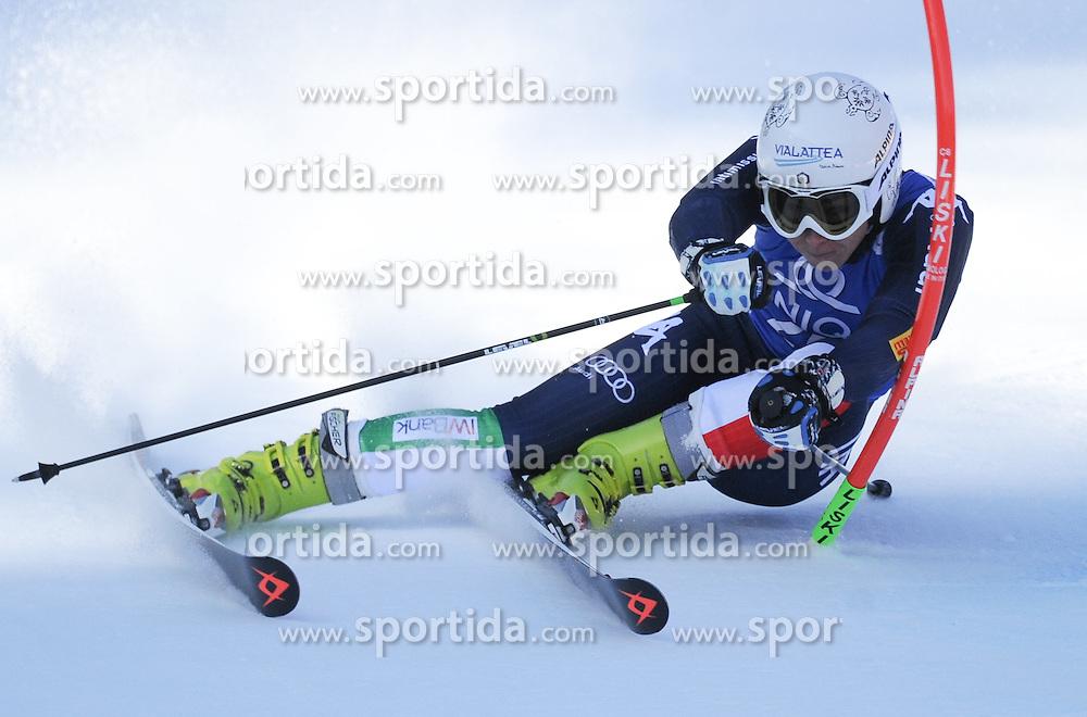 28.12.2015, Hochstein, Lienz, AUT, FIS Weltcup Ski Alpin, Lienz, Riesenslalom, Damen, 1. Durchgang, im Bild Francesca Marsaglia (ITA) // Francesca Marsaglia of Italy during 1st run of ladies Giant Slalom of the Lienz FIS Ski Alpine World Cup at the Hochstein in Lienz, Austria on 2015/12/28. EXPA Pictures © 2015, PhotoCredit: EXPA/ Erich Spiess