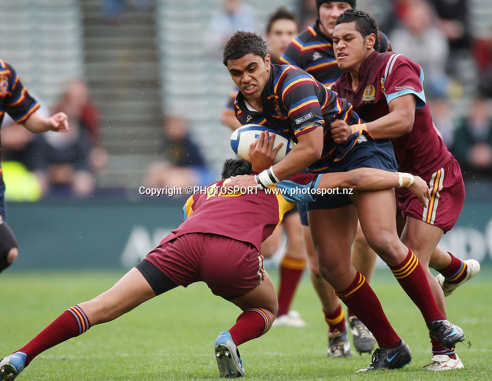 King's Sonny Henare. King's College v De La Salle College. First XV Schoolboy Rugby Final. Eden Park, Auckland, New Zealand. Saturday 23 August 2008. Photo: Simon Watts/PHOTOSPORT