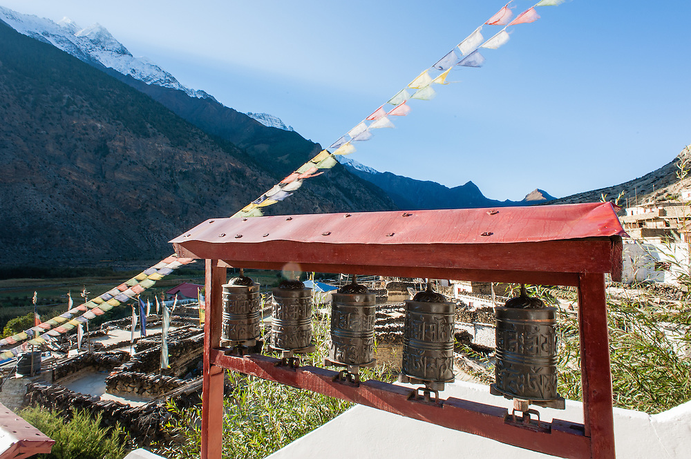 Prayer wheels in Marpha (Nepal)