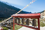 Prayer wheels in Marpha (Nepal)