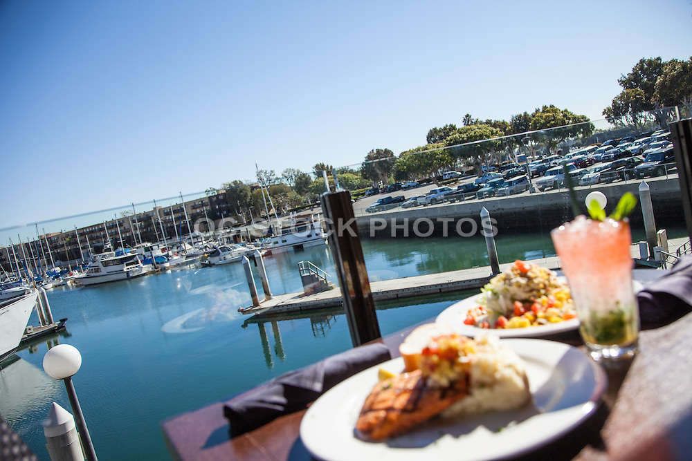 Lunch at the Marina Del Rey Harbor