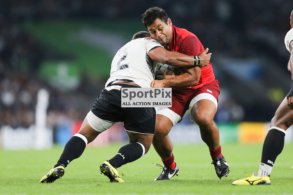TWICKENHAM, ENGLAND - SEPTEMBER 18:  England's replacement prop Mako Vunipola (17) in action during the opening game of the Rugby World Cup between England and Fiji at Twickenham on September 18, 2015 in London, England. (Credit: SAM TODD | SportPix.org.uk)