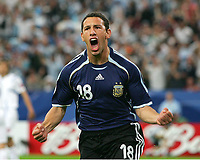 1:0 Jubel Maxi Rodriguez Argentinien<br />