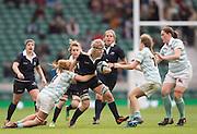 Twickenham, United Kingdom. Oxfords Ali WILLETT , on the attack the gap, during the 2015 Women's Varsity Match, Oxford vs Cambridge, RFU Twickenham Stadium, England.<br /> <br /> Thursday  10/12/2015<br /> <br /> [Mandatory Credit. Peter SPURRIER/Intersport Images].