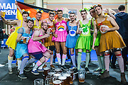 Dart fans in fancy dress  during the World Darts Championship Semi Finals at Alexandra Palace, London, United Kingdom on 2 January 2016. Photo by Shane Healey.