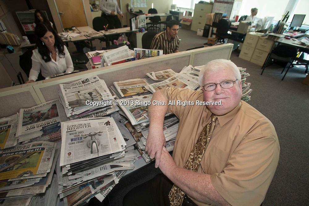 Ian Lamont, publisher of Long Beach Register. (Photo by Ringo Chiu/PHOTOFORMULA.com)