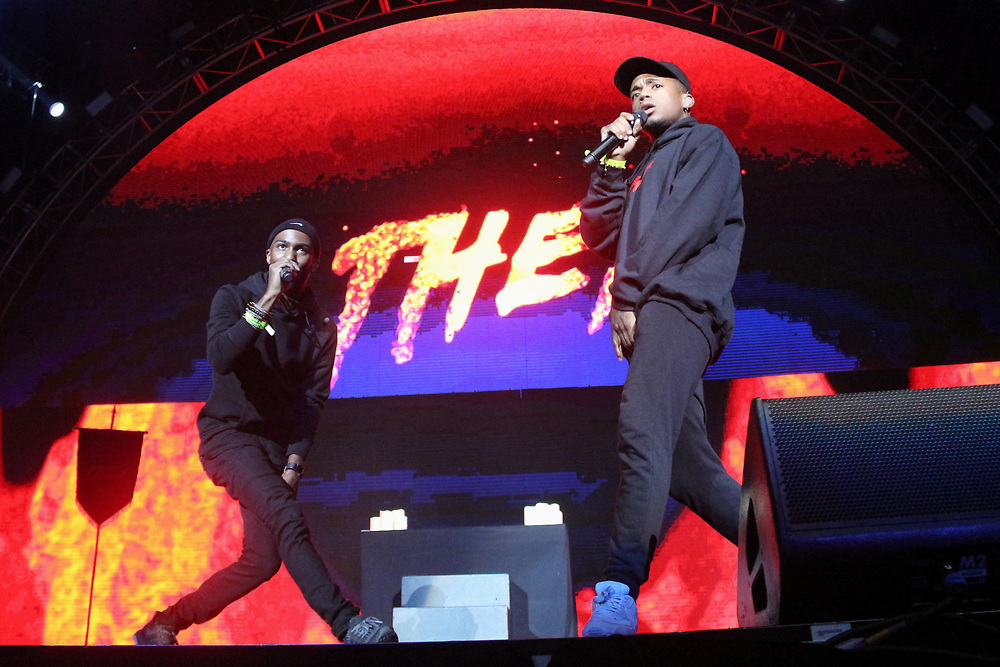 They perform at the 2017 BET Experience at The Staples Center on Friday June 23, 2017, in Los Angeles. (Photo by Willy Sanjuan/Invision/AP)