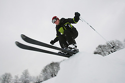 © under license to London News Pictures.  1/12/10.Snowboarding students from Sheffield University take advantage of the  cold weather in Meersbrook Park, Sheffield.
