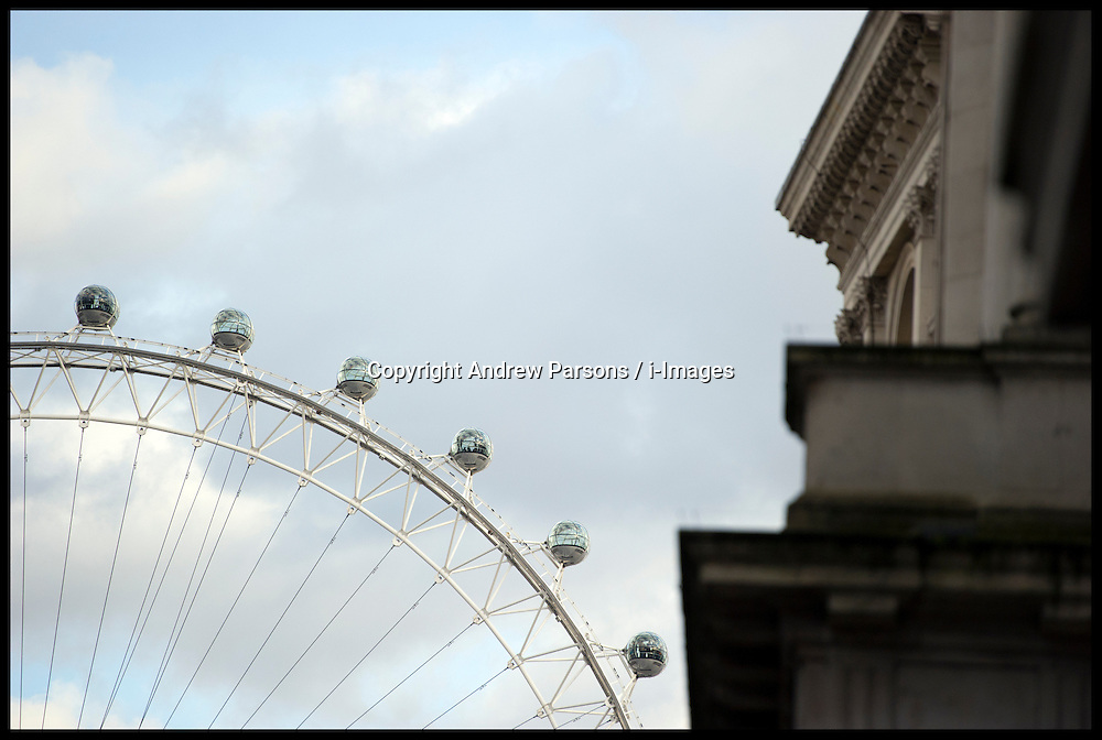 The View of The London Eye from Downing Street, London Thursday February 5, 2013.Photo By Andrew Parsons / i-Images