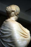 Libia, Leptis Magnia.Considerato il più bel sito romano del Mediterraneo.Una statua di donna al interno del museo.Libya, Leptis Magna.Considered the best Roman site in the Mediterranean.A statue of a woman at the Museum