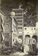 Prison de L'inquisition a Barcelone [Inquisition Prison in Barcelona] Page illustration from the book 'Spain' [L'Espagne] by Davillier, Jean Charles, barón, 1823-1883; Doré, Gustave, 1832-1883; Published in Paris, France by Libreria Hachette, in 1874