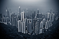 A view of Central Honk Kong on a hazy afternoon.