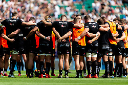 Exeter Chiefs prior to kick off - Mandatory by-line: Ryan Hiscott/JMP - 01/06/2019 - RUGBY - Twickenham Stadium - London, England - Exeter Chiefs v Saracens - Gallagher Premiership Rugby Final