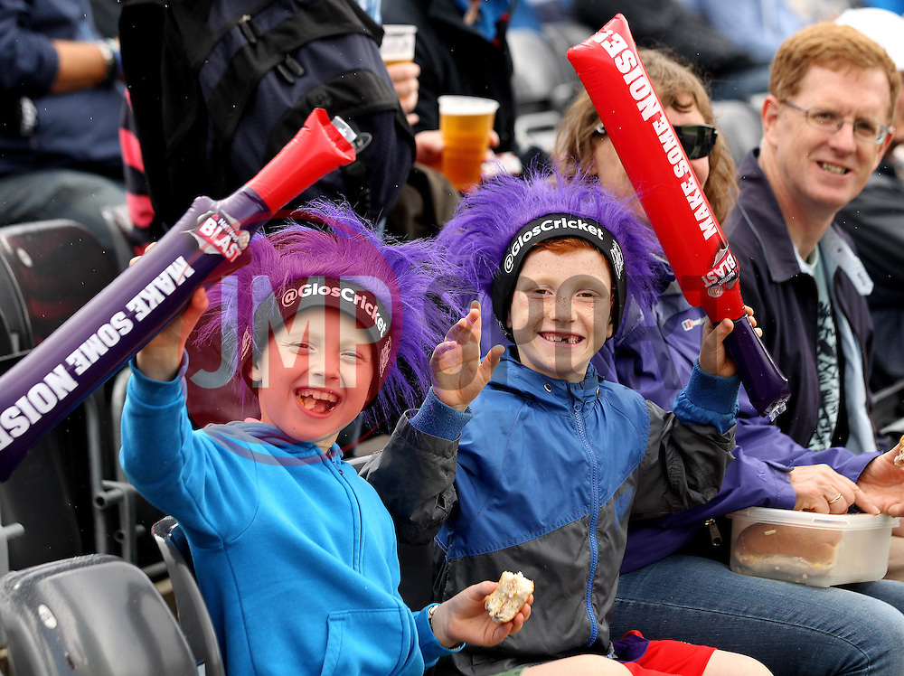 Young fans wait for Gloucestershire and Sussex to begin - Photo mandatory by-line: Robbie Stephenson/JMP - Mobile: 07966 386802 - 26/06/2015 - SPORT - Cricket - Bristol - The County Ground - Gloucestershire v Sussex - Natwest T20 Blast