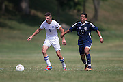 Sussex County Community College Men's Soccer sophomore Kirk Stanwix (4) -Middlesex County College Men's Soccer at Sussex County Community College in Newton, NJ on Saturday September 6, 2014. (photo / Mat Boyle)