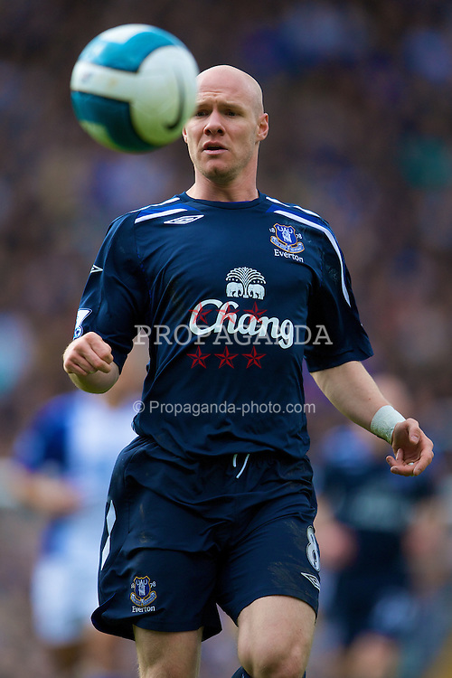 BIRMINGHAM, ENGLAND - Saturday, April 12, 2008: Everton's Andrew Johnson in action against Birmingham City during the Premiership match at St Andrews. (Photo by David Rawcliffe/Propaganda)