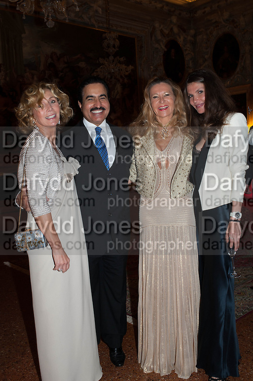 Prince Mishaal Al Saud; LAETICIA; ANDREA DIBELIUS, Andrea Dibelius of the EMDASH Foundation hosts party to celebrate the Austrian Pavilion and artist Mathias Poledna at the Venice Biennale. Palazzo Barbaro, Venice. 30 May 2013<br /> <br /> <br /> Venice. Venice Bienalle. 28 May 2013