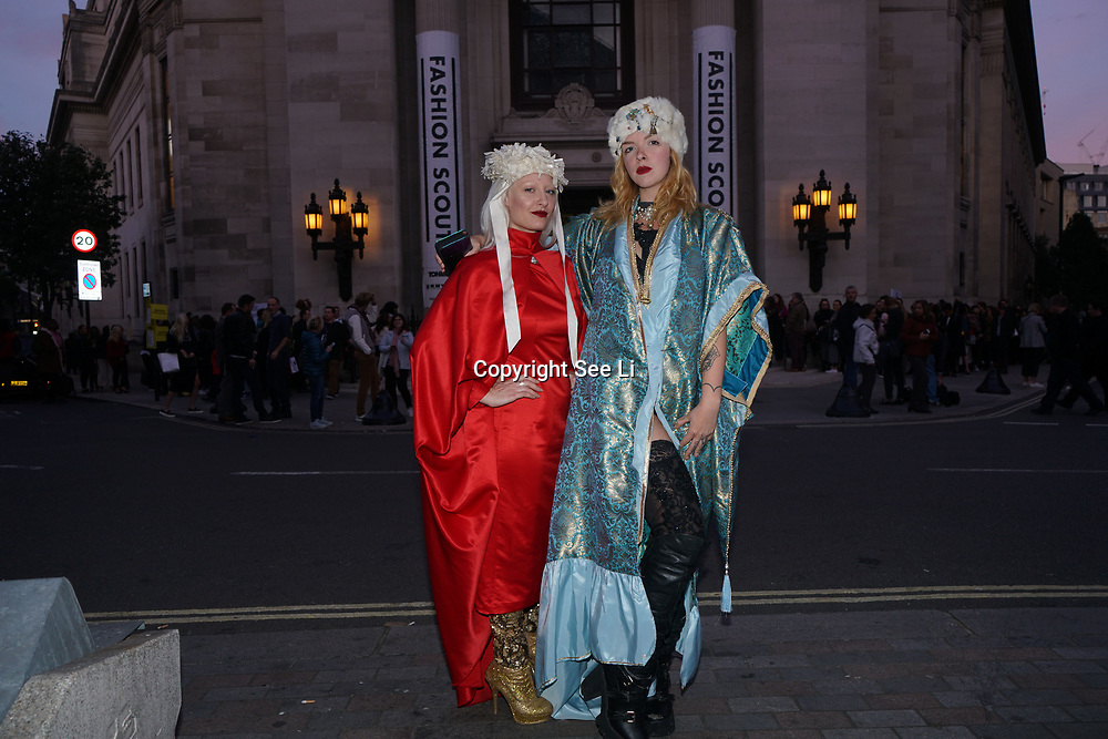 London, England, UK. 17th September 2017.Fashionista attends snaps at FASHION SCOUT SS18 Day 3 at Freemasons Hall.