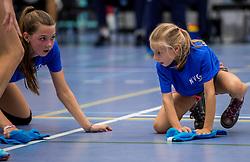 28-08-2016 NED: Nederland - Slowakije, Nieuwegein<br /> Het Nederlands team heeft de oefencampagne tegen Slowakije met een derde overwinning op rij afgesloten. In een uitverkocht Sportcomplex Merwestein won Nederland met 3-0 van Slowakije / vloerboppers, quickmoppers, NVC