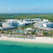 Aerial view of the Excellence Playa Mujeres.